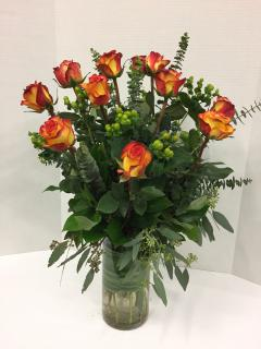 Long Stemmed Orange Roses
