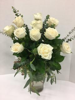 Long Stemmed White Roses